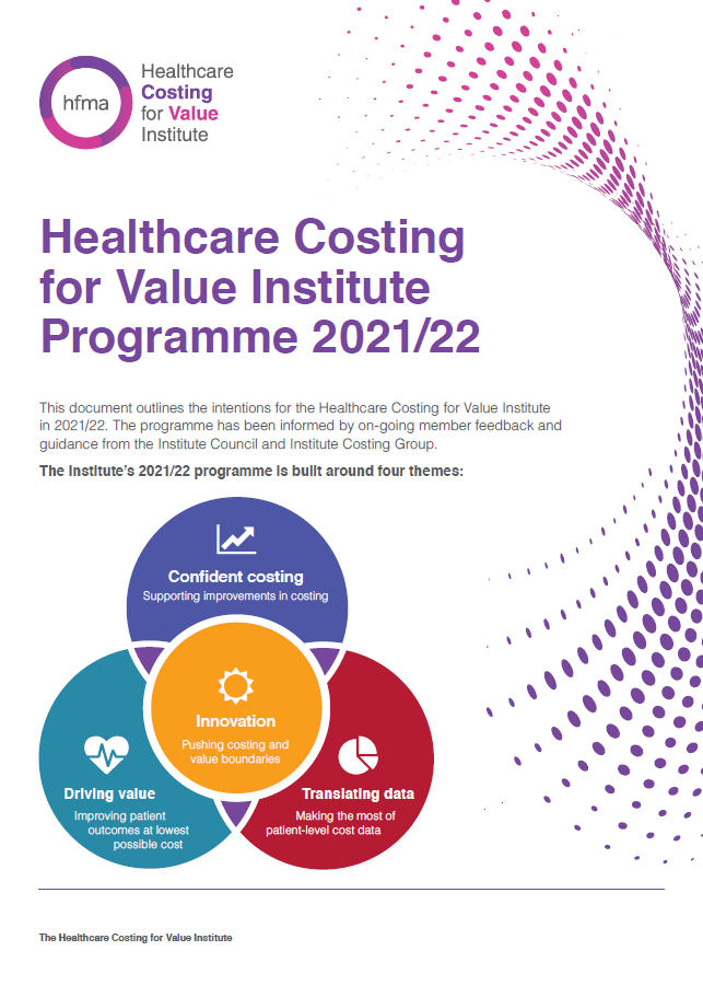Healthcare Costing for Value Institute 2020-21 programme