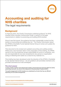 Accounting and auditing for NHS charities – the legal requirements