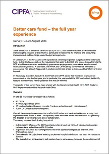 Better care fund – the full year experience