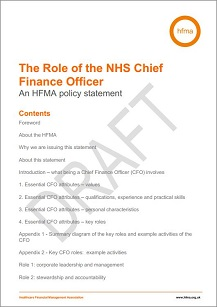 The Role of the NHS Chief Finance Officer: An HFMA policy statement
