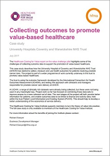 Collecting outcomes to promote value-based healthcare