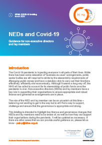 NEDs and Covid-19: guidance for non-executive directors and lay members
