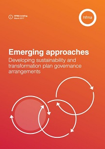 Developing sustainability and transformation plan governance arrangements