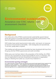 Environmental sustainability – assurance over ERIC returns