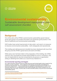 Environmental sustainability – sustainable development management plan