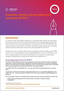 Example charity annual report and accounts 2016/17
