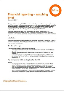 Financial reporting – watching brief January 2017
