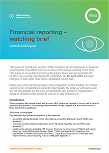 Financial reporting – watching brief 2019/20 and beyond (September update)
