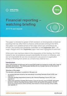 Financial reporting – watching brief November 2017