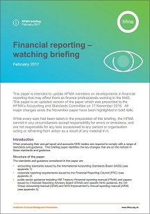 Financial reporting - watching brief February 2017