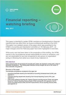 Financial reporting – watching brief May 2017