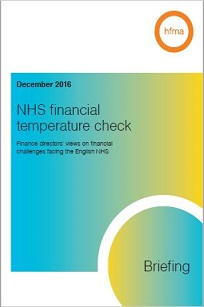 NHS financial temperature check -  Briefing December 2016