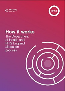 How it works: The Department of Health and NHS England allocation process