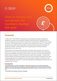 How to review and scrutinise the numbers during the year