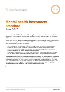 Mental health investment standard 2017
