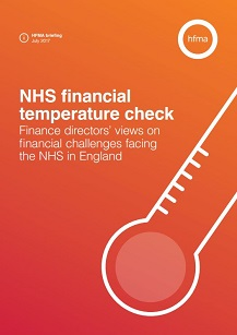NHS financial temperature check – briefing July 2017