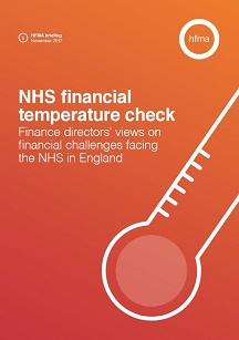 NHS financial temperature check – briefing November 2017