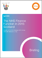 The NHS finance function in 2015: Scotland
