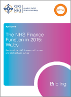 The NHS finance function in 2015: Wales
