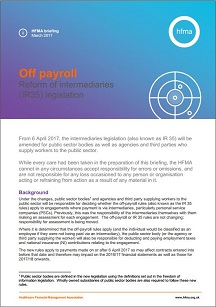 Off payroll: reform of the intermediaries (IR35) legislation
