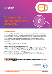 Example charity annual report and accounts 2019/20