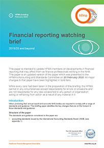 Financial reporting watching brief 2020/21 and beyond (July 2020 update)