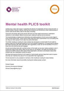 Mental health PLICS toolkit - (summary)