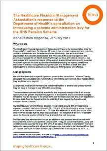 The HFMA's response to the Department of Health's consultation on introducing a scheme administration levy for the NHS Pension Scheme