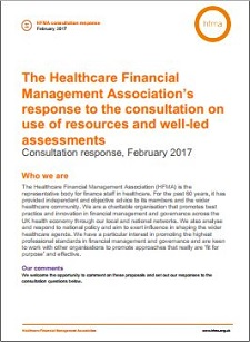 The HFMA's response to NHS Improvement's consultation on use of resources and well-led assessments