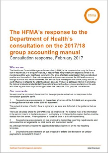 The HFMA's response to the Department of Health's consultation on the 2017/18 group accounting manual