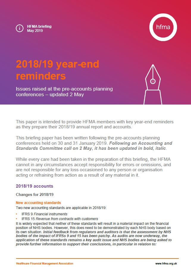 2018/19 year-end reminders