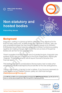 Non-statutory and hosted bodies: accounting issues (draft for comment)