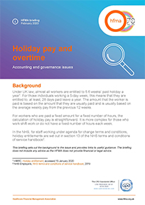 Holiday pay and overtime – accounting and governance issues