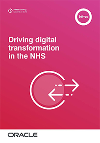 Driving digital transformation in the NHS