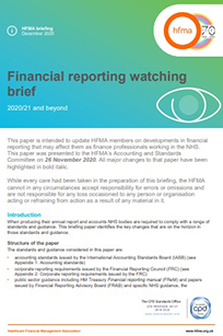 Financial reporting watching brief 2020/21 and beyond (December 2020 update)