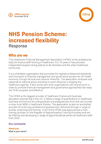 Consultation response on NHS Pension Scheme: increased flexibility