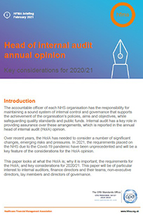 Head of internal audit opinion: key considerations for 2020/21