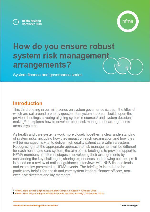 How do you ensure robust system risk management arrangements?