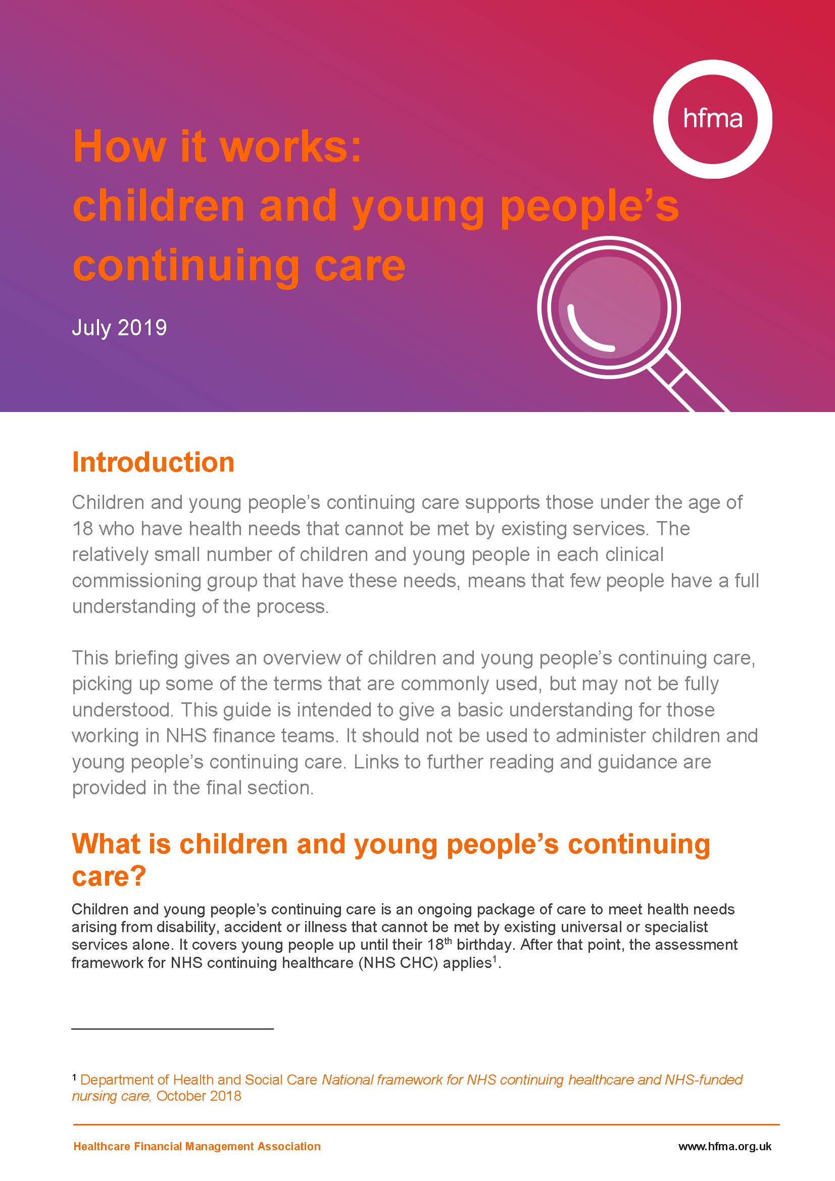 How it works – Children and young people's continuing care
