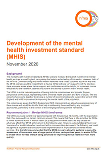 Development of the mental health investment standard (MHIS)