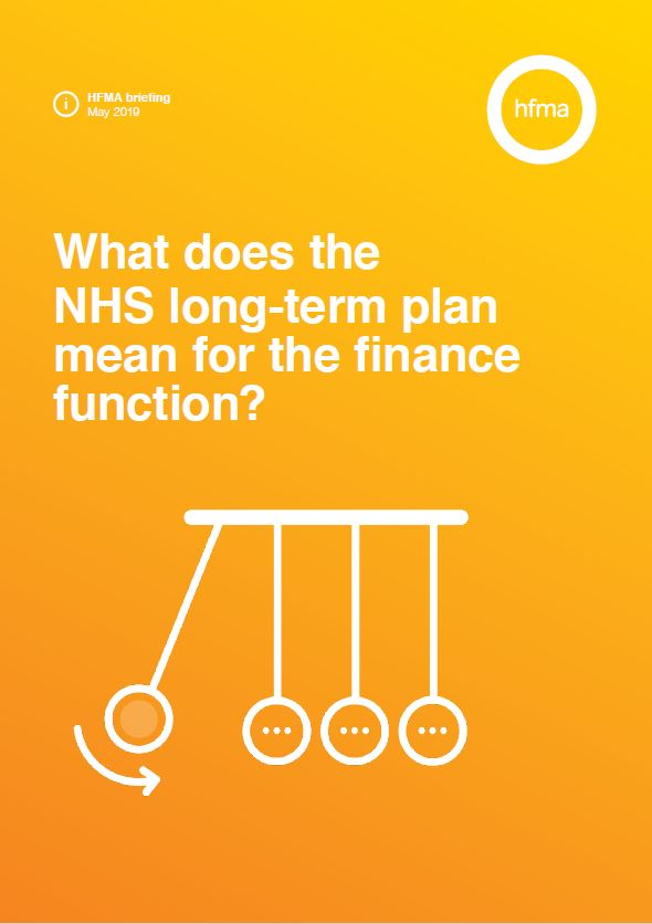 What does the NHS long-term plan mean for the finance function?