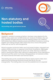 Non-statutory and hosted bodies: accounting and governance issues