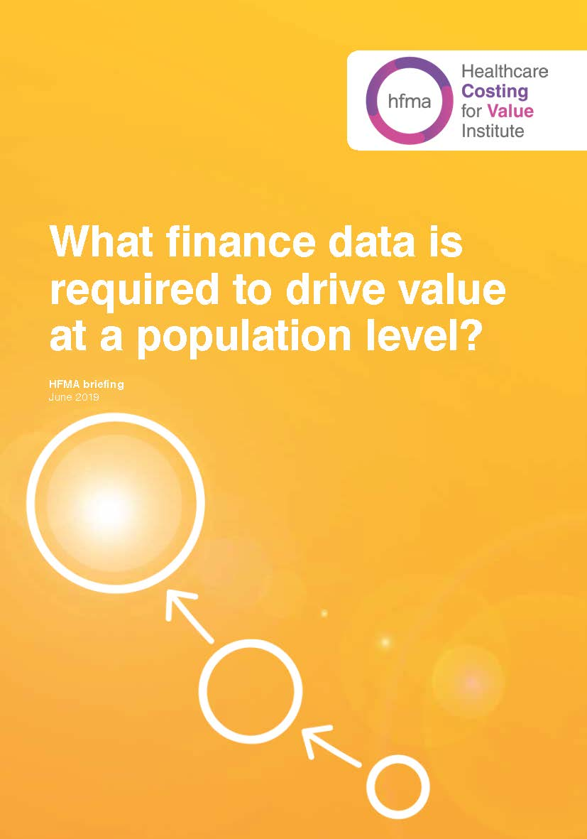 What finance data is required to drive value at a population level?
