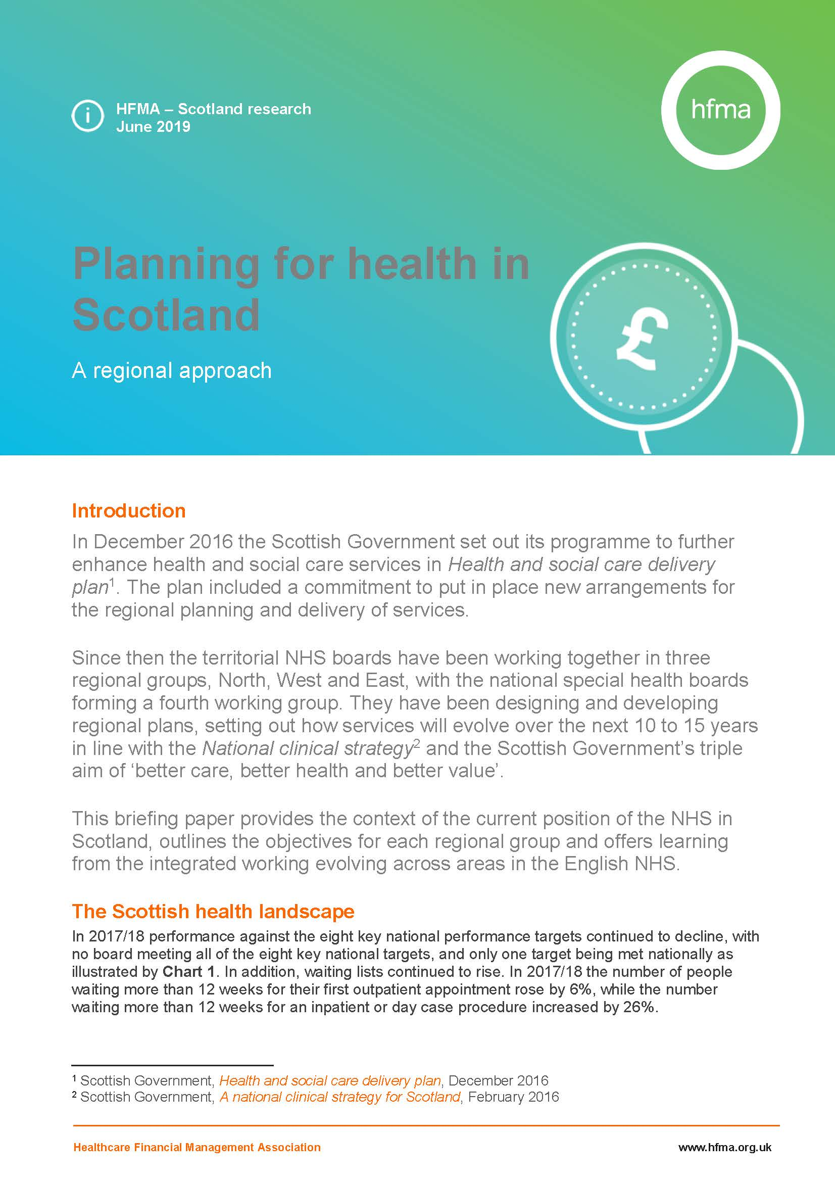 Planning for health in Scotland – a regional approach