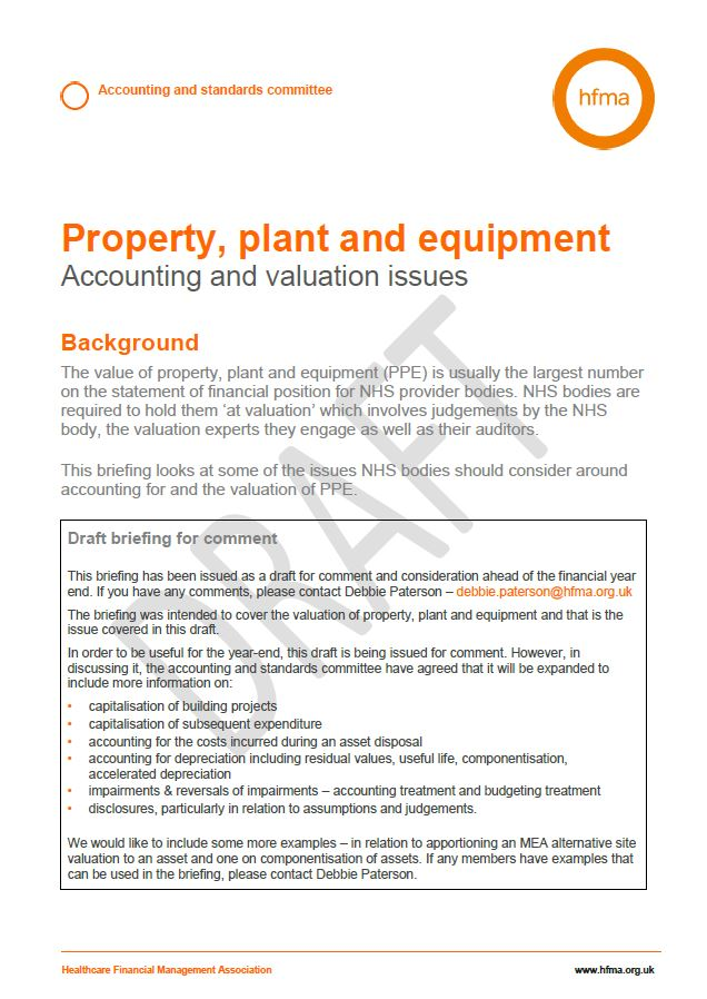 Property, plant and equipment - accounting and valuation issues