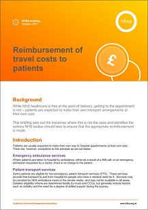 Reimbursement of travel costs to patients