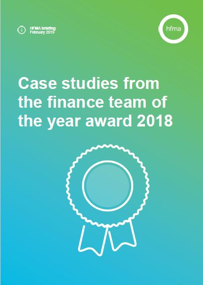 Case studies from the finance team of the year award 2018