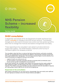 NHS Pension Scheme proposed increased flexibility: survey results