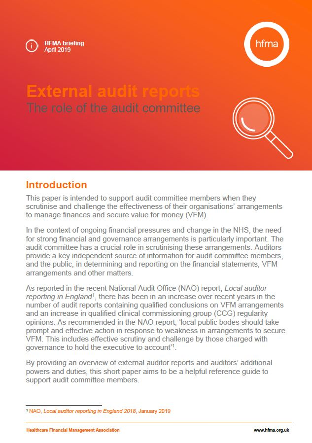 External audit reports: the role of the audit committee