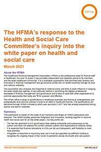The HFMA's response to the Health and Social Care Committee's inquiry into the white paper on health and social care